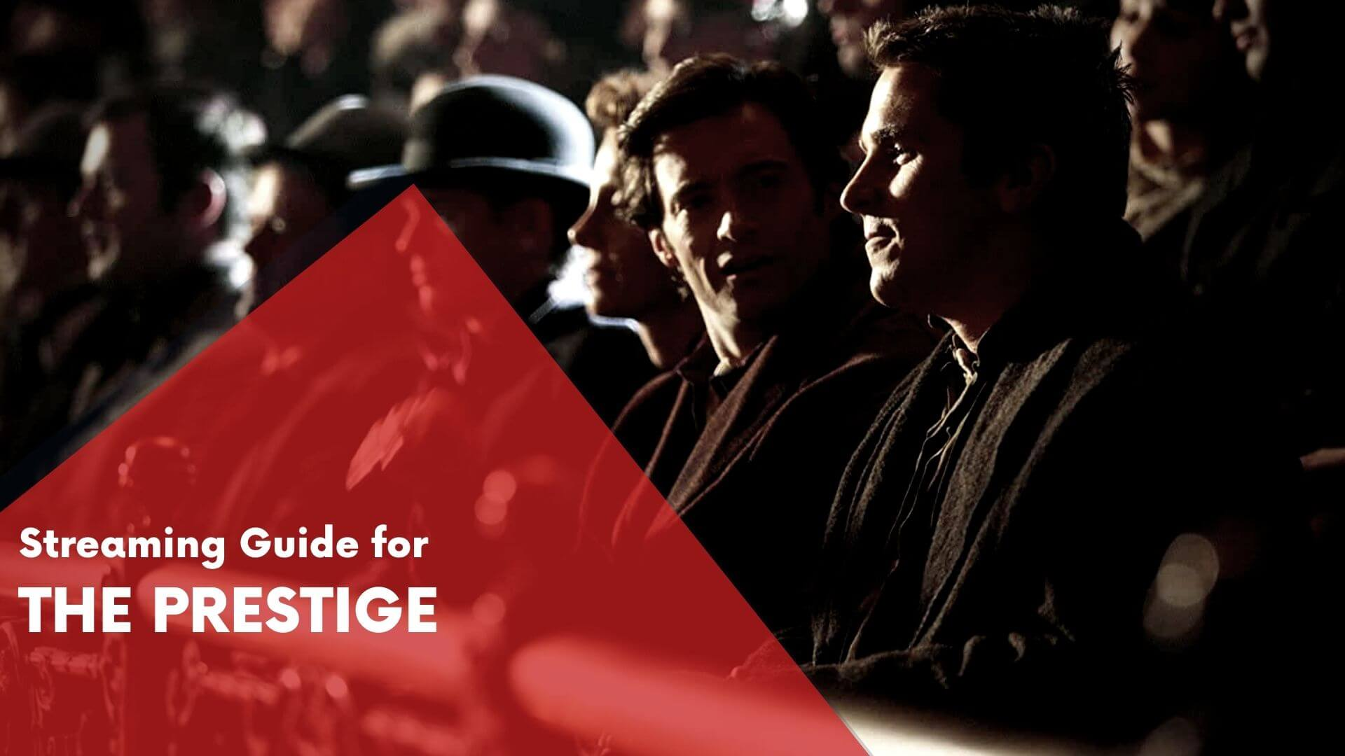 Answering if The Prestige can be watched online on Hulu