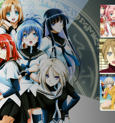 Post image showing characters from different trap anime