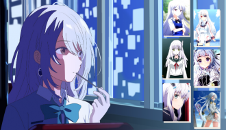 Highlights from 50 best anime girls with white hair